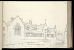 Penrose's Almshouses at Barnstaple, 1827 f.73